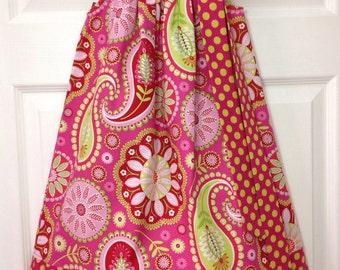 READY TO SHIP - Retro Paisley Pillowcase Dress Size 6