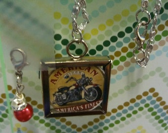 Harley Davidson Double sided necklace