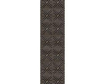 Loom or 1 Drop Even Peyote Bead Pattern - Mod Wallpaper Cuff Bracelet