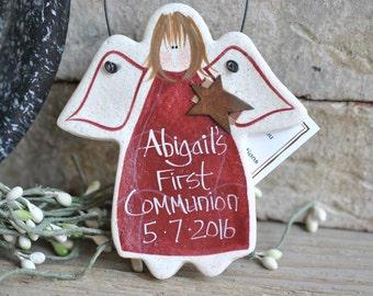 First Communion Gift Salt Dough Ornament for Girl
