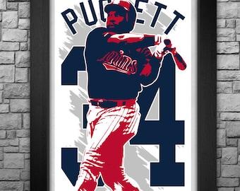 """KIRBY PUCKETT 11x17"""" art print."""