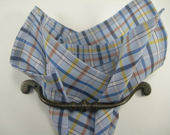 Checked pocket square