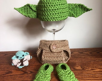 Star Wars Yoda Newborn Outfit