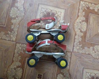 Vintage German Roller Skates Germina Adjustable  roller skates 70s Germina Verstellbare Kinder Rollschuhe