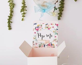 Bridesmaid Proposal Box - Bridesmaid Proposal - Rose Gold Wine Glass - Will you be my bridesmaid - Bridesmaid Gift - Personalized box