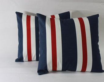 One Red, White and Blue Pillow Cover