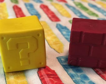 Inspired Mario Brother 3D block crayons