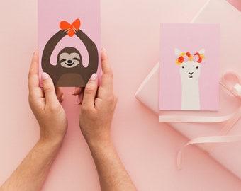 Love Sloth - Greeting card