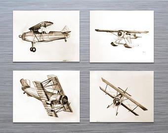 Aviation Decor - Aviation Art - Boys Room Decor - Vintage Aviation Nursery Decor - Office Art - Aviation Gift - Pilot Gift - Aircraft Art