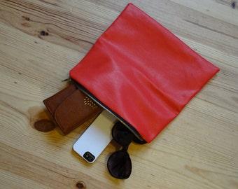 Handmade zip up bespoke clutch bag - customisable so you choose the fabrics!