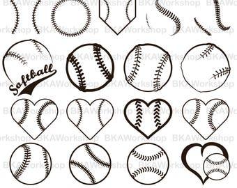 Softball svg - Baseball, Softball vector -  Softball, Baseball digital clipart for Design or more, files download svg, png, dxf