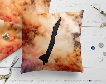 Airplane Pillow, Airplane Cushion, Throw Pillow, Pilot Gifts, Home Decor, Aircraft Pillow Case, Cover, Bedding, Russian Sukhoi Su-57 Frazor
