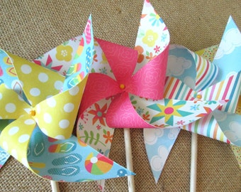 Birthday Favors Birthday Decorations Party Favors Birthday Favor Table Centerpiece Party Decoration Photo Prop Rainbow Party Paper Pinwheels