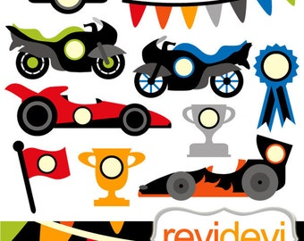 Racing cars clip art sale / Clipart Fast Wheels / race cars, boys motors graphic images / transportations clipart, commercial use graphic