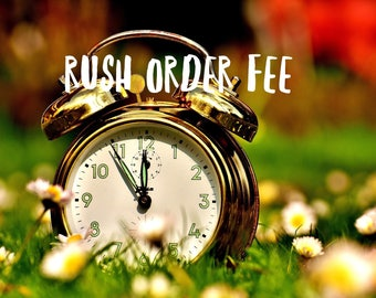Rush Order - Expedited Shipping - Last Minute - Quick Shipping - Fast Processing - Fast Shipping - Rush Delivery