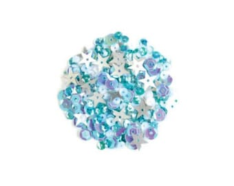 Hero Arts: CH307 Frost Sequin Mix, Gems, Embellishments, Accessories, 2018 Spring Catalog, Paper Crafting, Scrapbooking, Cardmaking