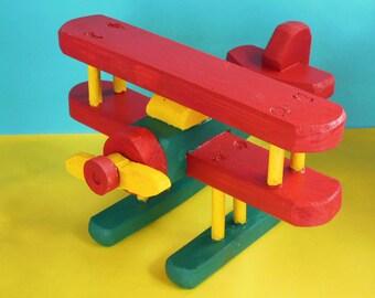 Toy Wooden Biplane