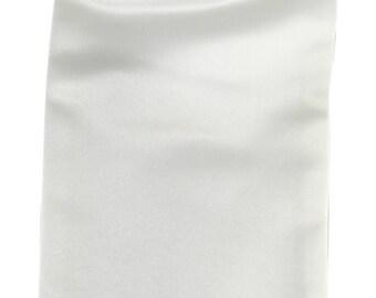 Men's Solid Cream Ascot Cravat Tie, for Formal Occasions