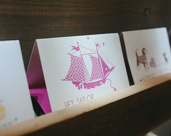 Any 6 Letterpress Greeting Cards - Multi Card Deal - Pick any 6 Cards - Letterpress Cards