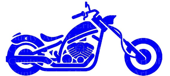 Blue Motorcycle Birthday - Edible Cake and Cupcake Topper For Birthday's and Parties! - D24060