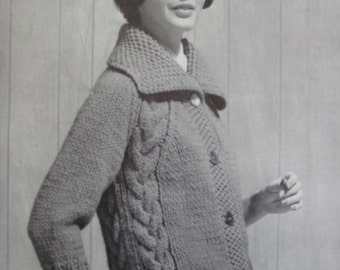 1960's Vintage Knitting PDF Pattern Women's Sweater 6413