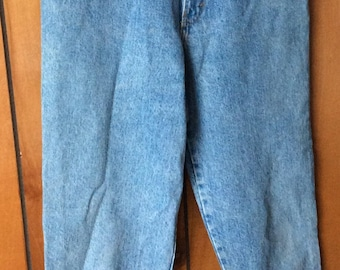 VINTAGE SASSON JEANS, high waist, double bows, 90 s, size 11, funky style