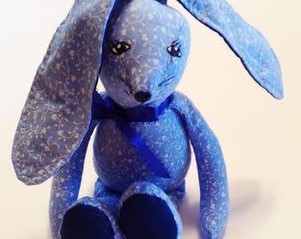 "Bunny, Plush Stuffed Bunny, Soft Bunny,  Tiny Bunny, 4"" Tall, Bunny Rabbit, Handmade Bunny,Baby Nursery,Cuddly Bunny,Birthday Gift Z139"