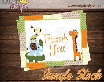 "Jungle Stack Thank you Card (4.25""x5.5"")"