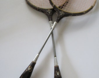 Vintage BADMINTON Rackets VOLLEY with a crown