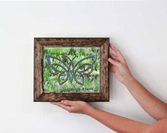 Celtic Butterfly Art Print, INSTANT Digital Download