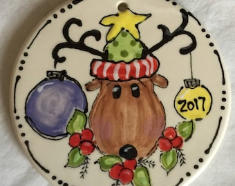 Reindeer personalized ornaments