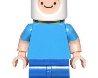 Adventure Time Finn the Human Custom Minifigure Set 100% Lego Compatible!