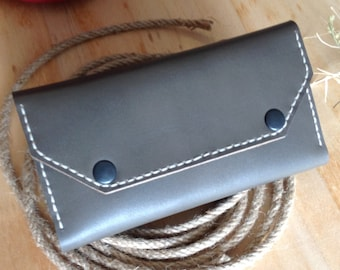 Personalized Leather Wallet Women, Leather Phone Case, Leather Wallet, Leather Gift