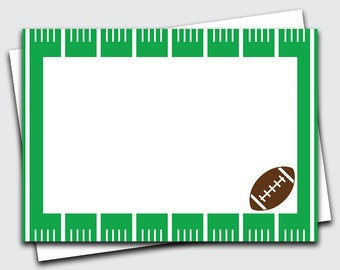 Boys Note Cards / Football / Note Cards / Football Thank You Notes / Set of 10 (Item #1702-013FLP)