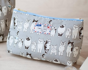 Cats Kittens Animal Cat Lovers Gift Makeup Cosmetic Toiletry Wash Bag