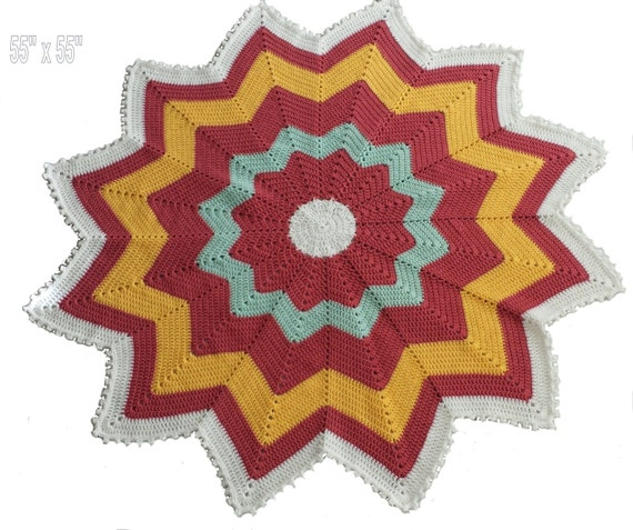 Baby Afghan New Born Baby Throw Rug Bed Cover Indian