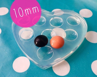 10mm Silicone Mold Resin Earrings Cabochons - Mould  Resin Crafter