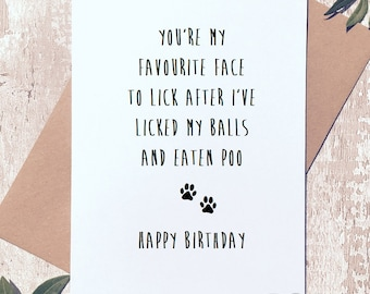 Dog dad card etsy funny happy birthday card from the dog birthday card card for dog dad bookmarktalkfo Images