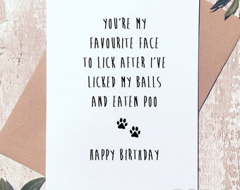 Funny Happy Birthday Card From The Dog For Dad