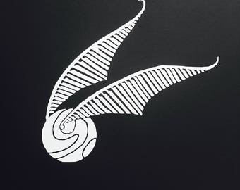 Snitch, Potter!, Always Deathly Hallow Symbol, I shouldn't have said that, You're a wizard, Harry.  Matte White Vinyl Stickers.