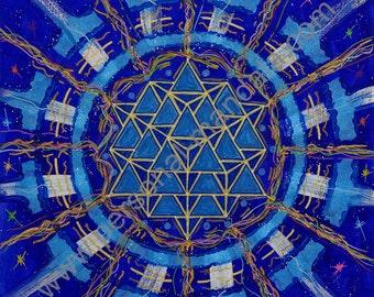 "Mandala ""Empty creator"" (canvas print)"