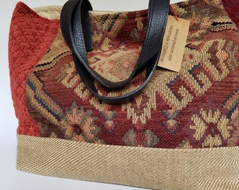 Tapestry Patchwork Tote, Large Boho Handbag, Sustainable Velvet Tote, Hippie Tote Handbag, Handmade Eco-friendly Handbag, Bohemian Tote Bag