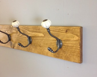 Coat Rack - Coat Hooks - Rustic Coat Rack - Coat Rack WallMount - Farmhouse Decor - Home Decor - Rustic Decor - Rustic Home Decor - Vintage