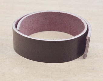 "Eggplant OIL TAN Leather Strap 3/4"" x 12"" Strip 4-6 oz Hide MI-53055 (Sec.8,7,C,Box5)"