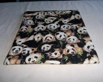 Microwave Potato Bag, Large, Panda Bear, Potato Sack, Baked Potato Bag, Kitchen Utensil, Handmade, Cotton Gift