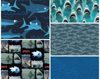 Shark Attack - Fat Quarter Bundle - 5 Prints