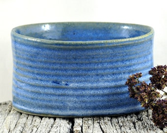Ceramic Bowl Oval Speckled Blue Rustic - Stoneware Unique-  Handmade Pottery - Home Decor - Housewarming gift - by DeeDeeDeesigns