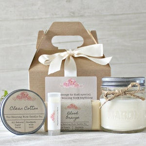 Spa Gift Set / Hostess Gift / Personalized Gift Set / Gift Basket For Her / Bridal Party Gift Set / Bath & Beauty Gift Basket / Candle Gift