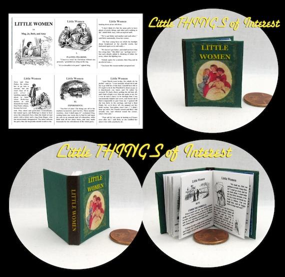 LITTLE WOMEN Book in 1:6 Scale Illustrated Readable Book - Blythe - Momoko - Pullip - Barbie Scale Book