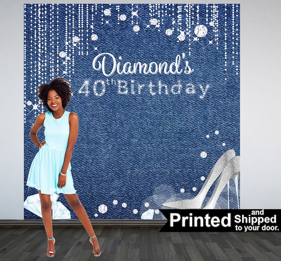 Denim Amp Diamonds Photo Backdrops 40th Birthday Party